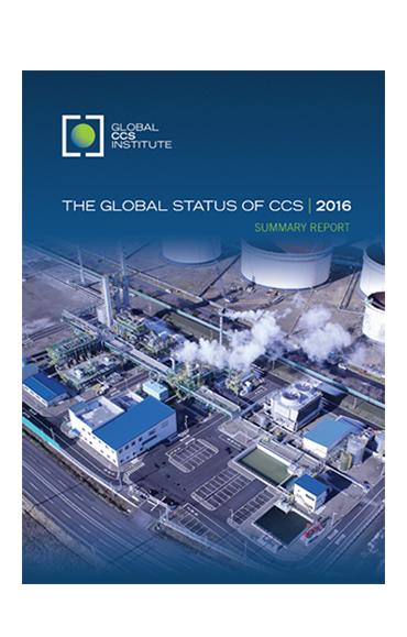 2016 Global Status of CCS report cover image