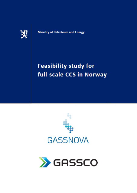 Cover of report, Feasibility study for full-scale CCS in Norway