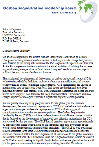 letter about climate change open letter to the unfccc on carbon capture and storage 7306