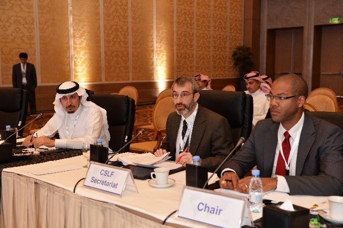 Members of the CSLF Policy Group meet in Riyadh, Saudi Arabia, in November 2015.