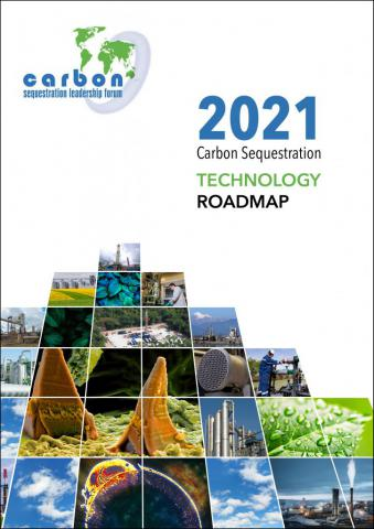 Roadmap cover showing various CCUS technologies, research, and deployment
